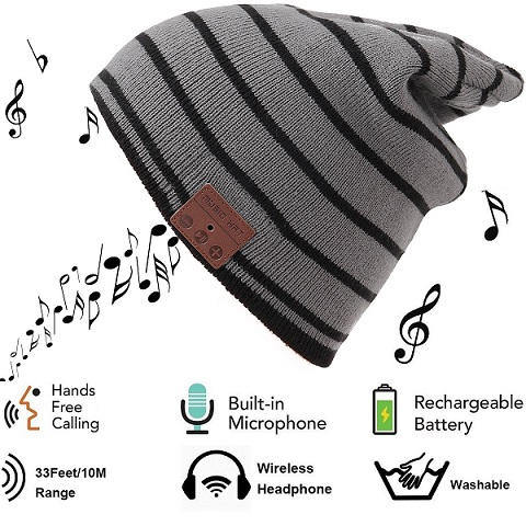 Snowboarding Gifts: Hat with Bluetooth Speakers