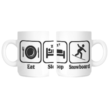 Presents for Snowboarders: Snowboard mug