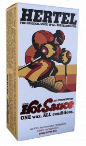 Super HotSauce all temperature ski/snowboard wax.