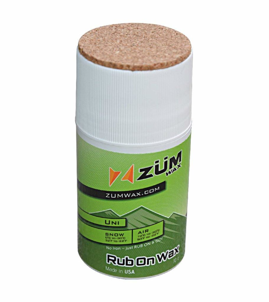 ZUMWax RUB ON WAX Ski/Snowboard - All Temperature Universal