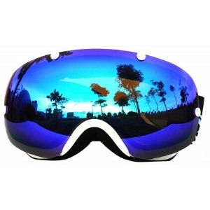 COPOZZ Large Double Spherical Anti-Fog Ski Goggles Polarizing Adult Glasses Pro