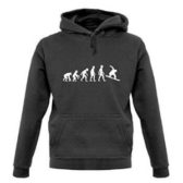 Hoodie Hood Evolution of A Snowboarder