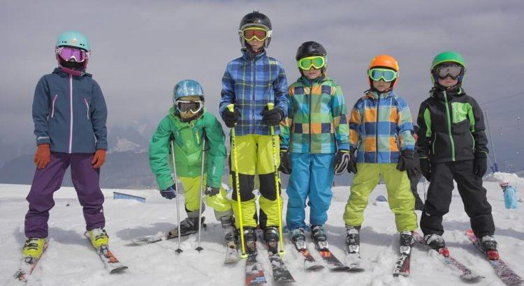 Kids in snow attire