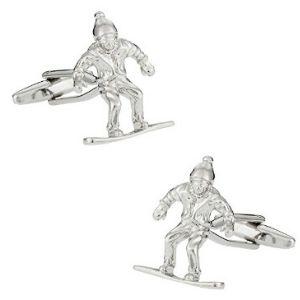 Snowboard Cufflinks Sports Snowboarder