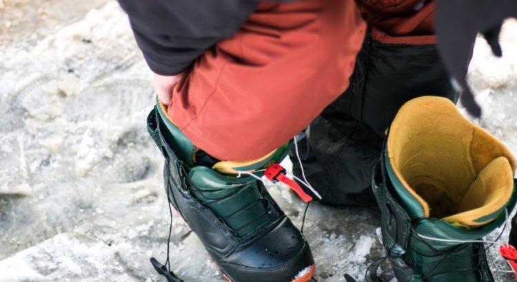 Man wearing Ski boots