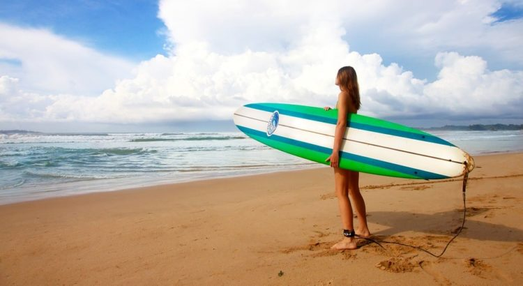 Men ready for surfboarding