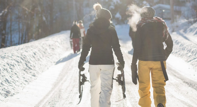 women wearing ski gloves