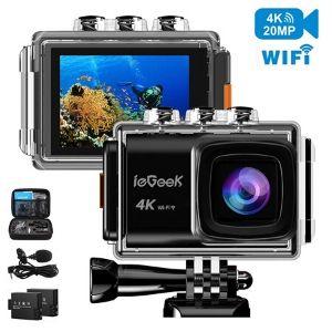 ieGeek 4K 20MP WiFi Waterproof Sports Cam
